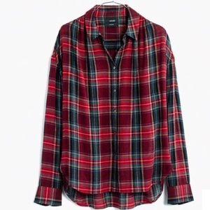 Central Long Sleeve Shirt in Tartan Plaid